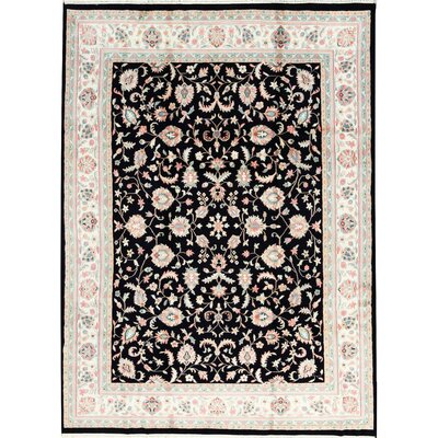 One-of-a-Kind Hand-Woven Wool Navy/Ivory Area Rug