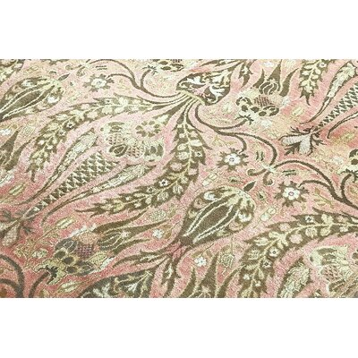 One-of-a-Kind Zeigler Hand-Woven Wool Rose/Beige Area Rug