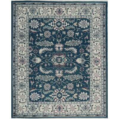 One-of-a-Kind Hand-Woven Wool Green/Ivory Area Rug