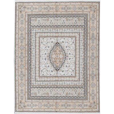 One-of-a-kind Hand-knotted Worsted Wool Ivory Area Rug