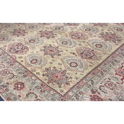 One-of-a-Kind Sumack Hand-Woven Wool Gold Area Rug