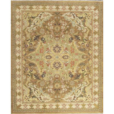 One-of-a-Kind India Hand-Woven Wool Gold/Beige Area Rug