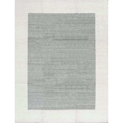 One-of-a-Kind Hand-Woven Gray/Cream Area Rug