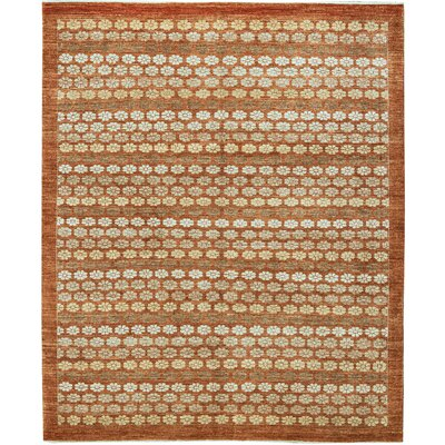 One-of-a-Kind Pakistan Hand-Woven Wool Orange/Beige Area Rug