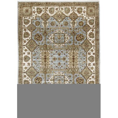 One-of-a-Kind Mountain King Hand-Woven Wool Light Blue/Ivory Area Rug
