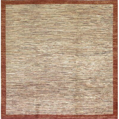 One-of-a-kind Hand-loomed Gabbeh Wool Beige Indoor Area Rug