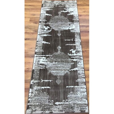 Senaida Dark Brown/Beige Area Rug