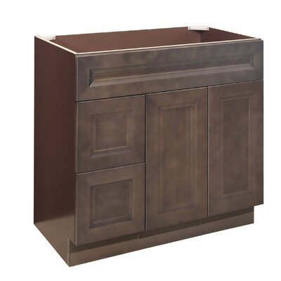 36 Single Bathroom Vanity Base Orientation: Left