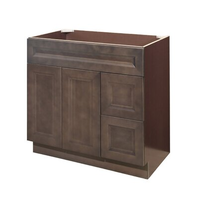 36 Single Bathroom Vanity Base Orientation: Right
