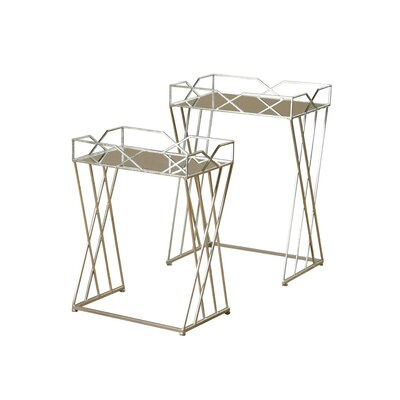 2 Piece Nesting Tables Finish: Silver Leaf