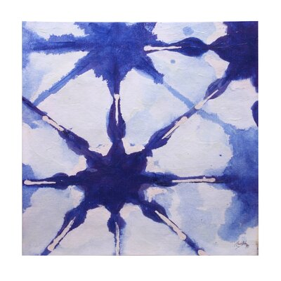 'Ink Blot II' Square Painting