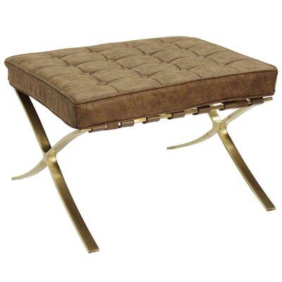 Leung Ottoman Upholstery: Brown