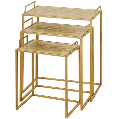 Ordingen Shell Top 3 Piece Nesting Tables