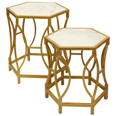 Maynard Hexagonal Shaped 2 Piece Nesting Tables