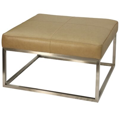 Amy Genuine Leather Ottoman Upholstery: Camel
