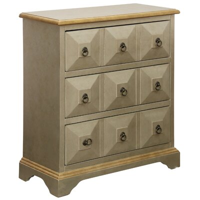 Melody 3 Drawer Chest Color: Ivory