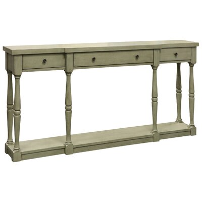 Kaitlyn 3 Drawer Console Table Finish: Gray/Green