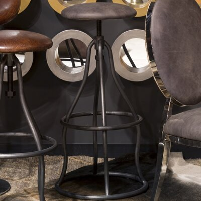 Calisto Adjustable Height Swivel Bar Stool Upholstery: Antique Ebony