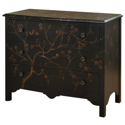 Juliette Hand Painted 3 Drawer Traditional Dresser