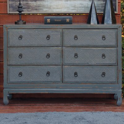 Devanna Antique Style 6 Drawer Double Dresser
