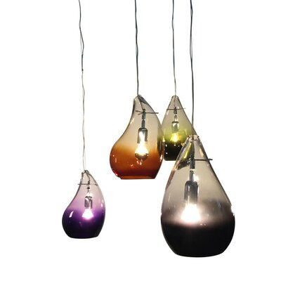 Disalvo Decanter 1-Light Mini Pendant Shade Color: Purple
