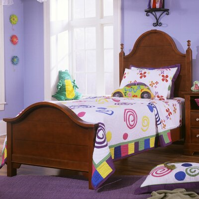 Cheap Cottage Youth Panel Bed Size: Twin, Finish: Cherry (VS1307_1415487_7030244)