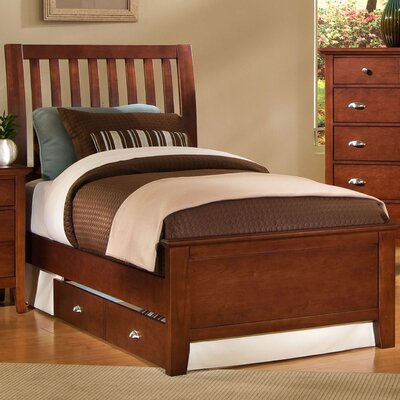 Cheap Twilight Cherry Twin Slat Bed (VS1969)