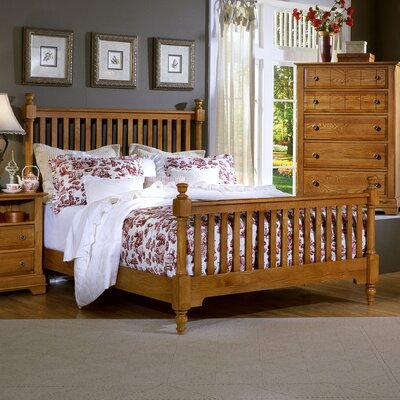 Vaughan-Bassett Cottage Slat Bed - Size: King, Finish: Oak at Sears.com