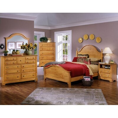 Vaughan-Bassett Cottage Panel Bed - Size: King, Finish: Oak at Sears.com