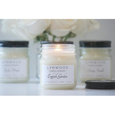 English Garden Scented Jar Candle MJ005