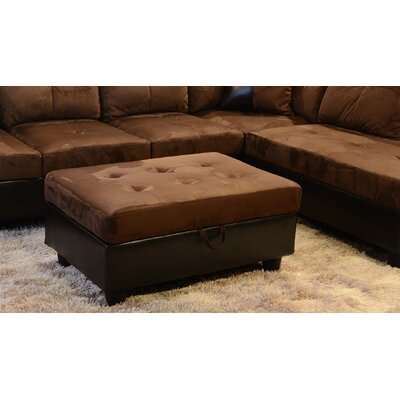 Fava Sectional with Ottoman Orientation: Left Hand Facing, Upholstery: Espresso