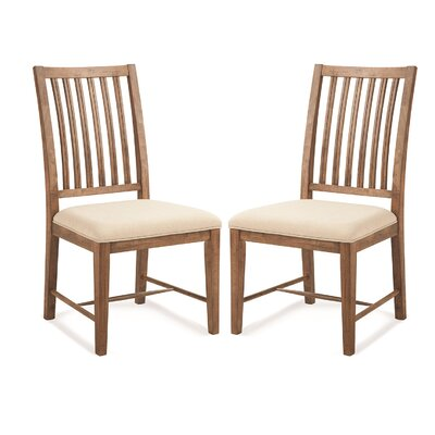 South Mountain Farmhouse Upholstered Dining Chair Color: Acorn