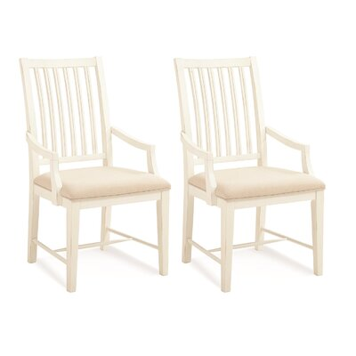 South Mountain Farmhouse Dining Chair Color: White