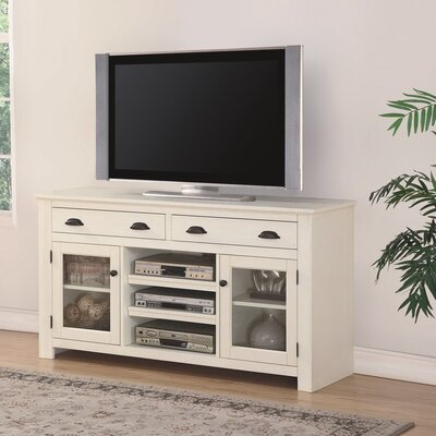 South Mountain Farmhouse 60 TV Stand Color: White
