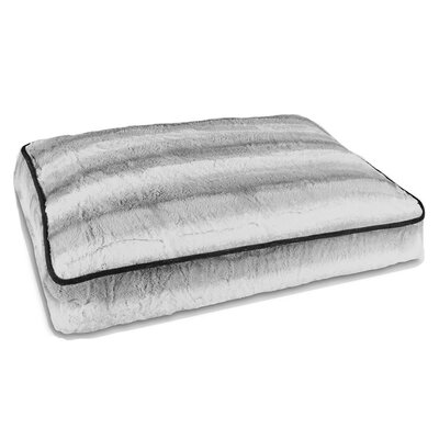 Arctic Fur Pillow Bed Size: Extra Small (16 W x 24 D x 4 H)