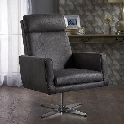 Bloomingdale Modern Fabric Swivel Armchair