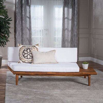 Bynum Indoor Wood Modular Sofa with Cushions Upholstery: White