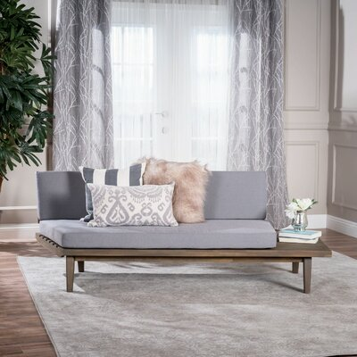 Bynum Indoor Wood Modular Sofa with Cushions Upholstery: Gray