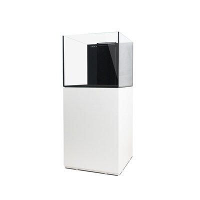 Aquarium kit Size: 20.5 H x 18 W x 18 D, Finish: White