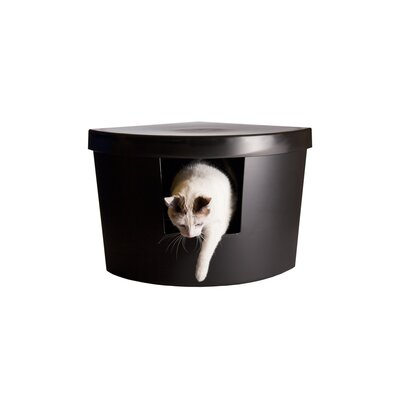 Corner Kitty Modern Litter Box Enclosure Color: Black