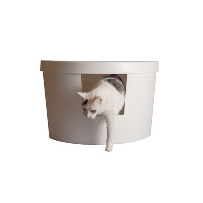 Corner Kitty Modern Litter Box Enclosure Color: White