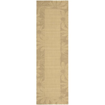 """Image of New Patina Beige Area Rug Rug Size: Runner 2'3"""" x 7'5"""""""