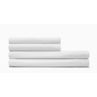 Body Fitted Sheet Size: California King, Color: White