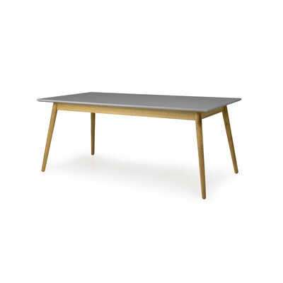 Dot Dining Table Color: Gray / Oak