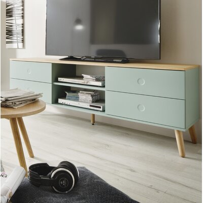Dot 64 TV Stand Color: White / Oak