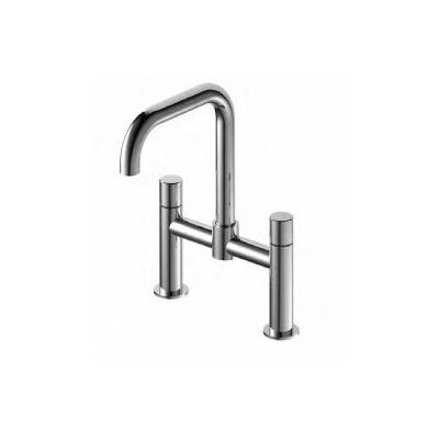 Countertop Hot and Cold Widespread Double Handle Bathroom Faucet