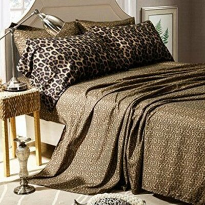 Hepler Cheetah Print Soft Polyester Sheet Set Size: Queen
