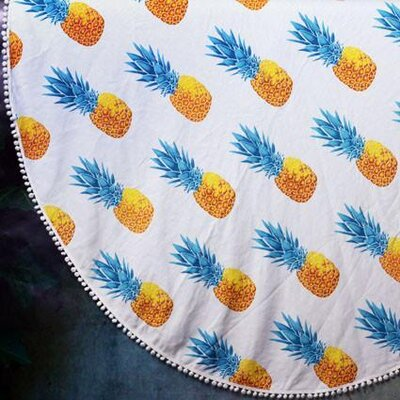 Jordon Pineapple Roundie Turkish Beach Towel