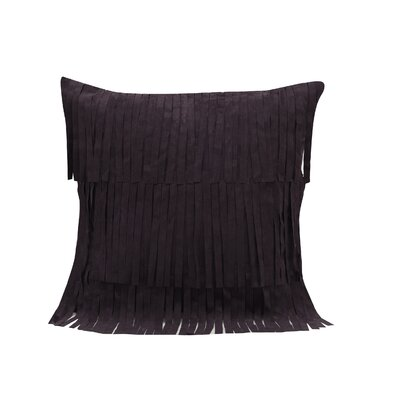 Tewksbury Leather/Suede Throw Pillow