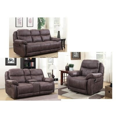 Pasternak Configurable 3 Piece Living Room Set Type: Manual